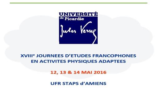 18è Journées d'Études Francophones en Activité Physique Adaptée